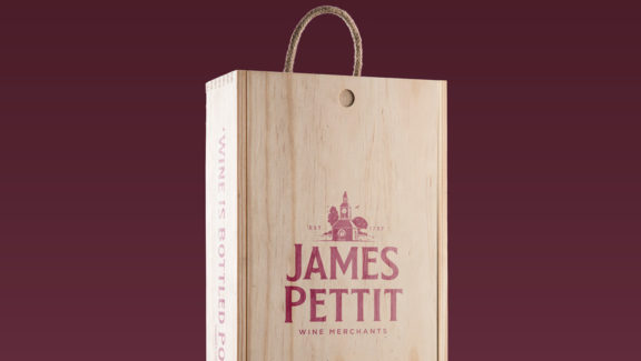 James Pettit wine case