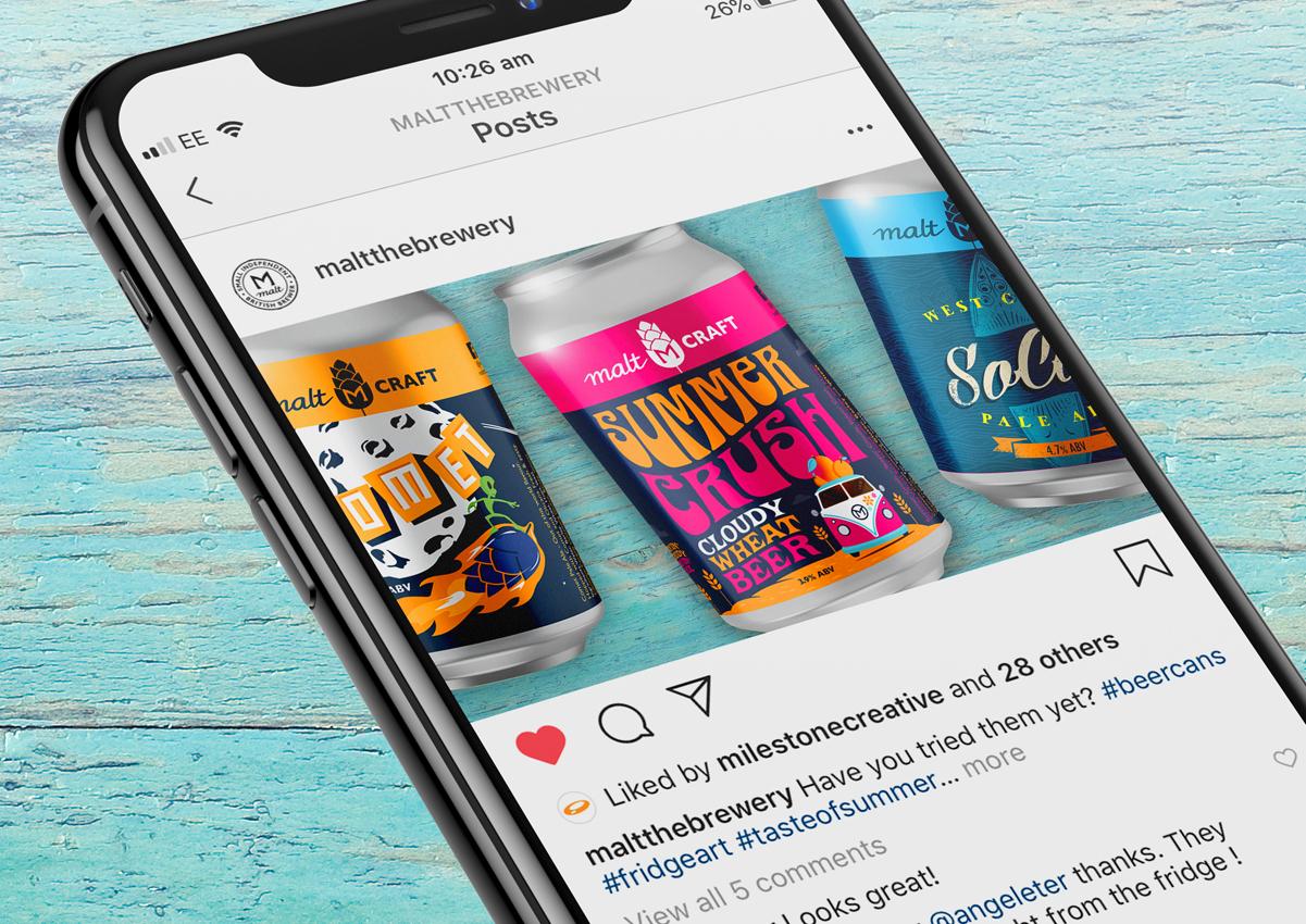 Summer Crush Instagram post